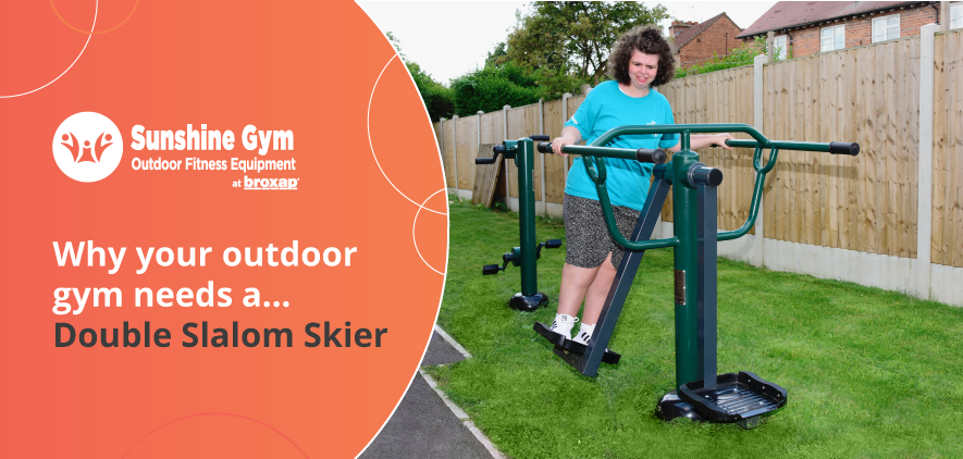 Why your outdoor gym needs a… Double Slalom Skier
