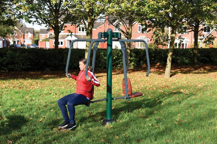 Double Power Push |outdoor chest press | outdoor fitness equipment from Sunshine Gym