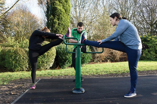 Leg Stretch | stretching equipment | outdoor fitness equipment from Sunshine Gym
