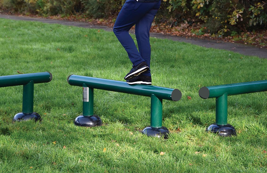Children's Balance Beams | Children's Fitness Trail | Children's outdoor fitness equipment from Sunshine Gym