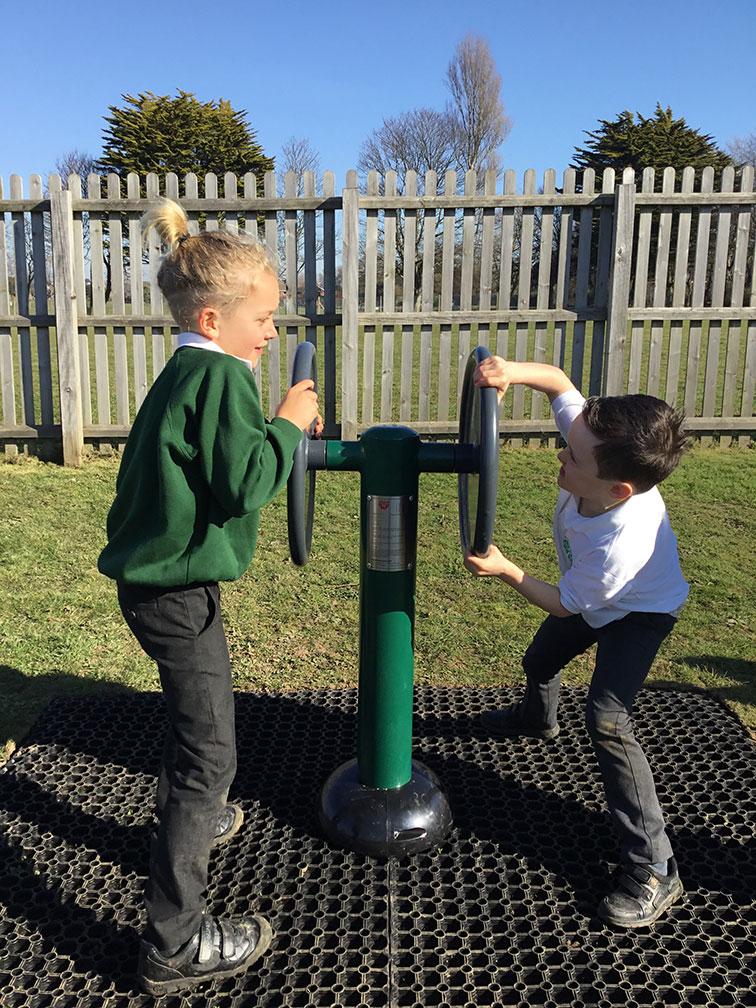 Children's Double Strength Challenger | Children's outdoor fitness equipment from Sunshine Gym
