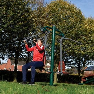 Double pull down challenger | outdoor lat pull down | outdoor fitness equipment from sunshine gym