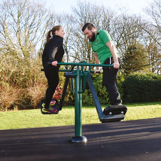 double slalom skier  outdoor air skier   outdoor fitness equipment from Sunshine Gym